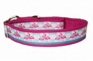 Obroża we flamingi 3 cm